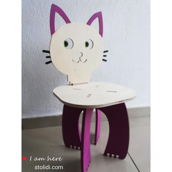 Ξύλινη παιδική καρέκλα