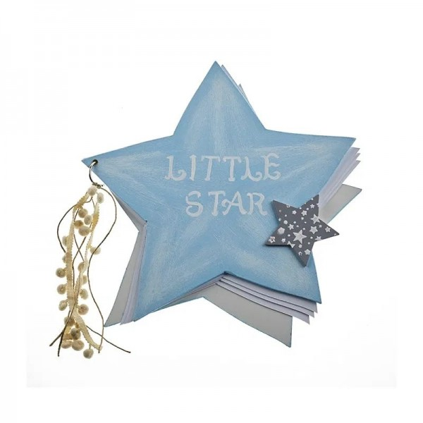 Ευχολόγιο με θέμα αστέρι γαλάζιο