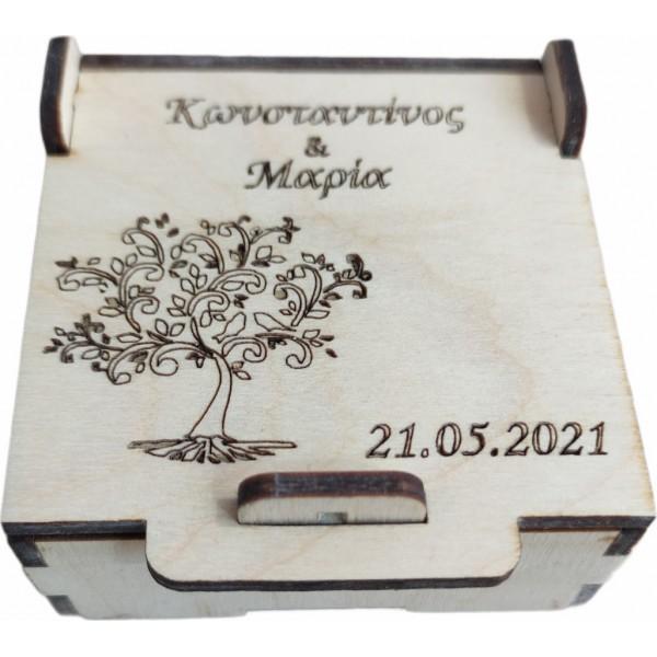 Ξύλινο κουτί για μπομπονέρα