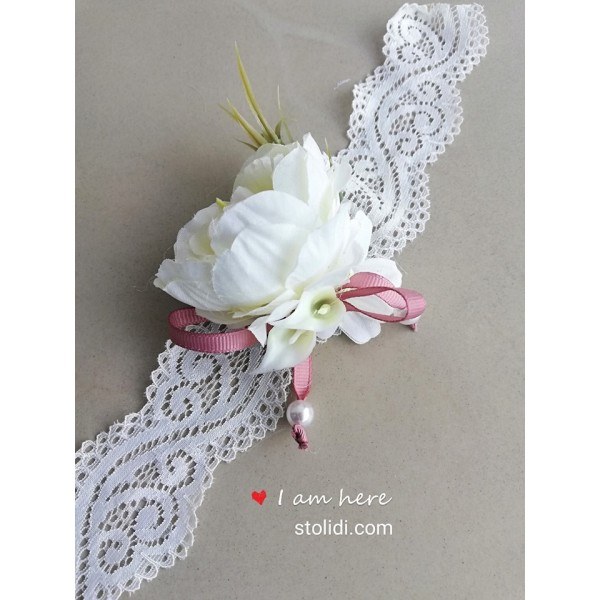 Bridesmaid bracelet corsage
