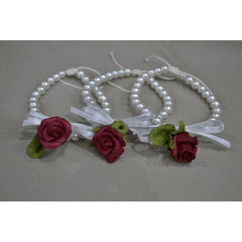 Bachelor bracelet red rose
